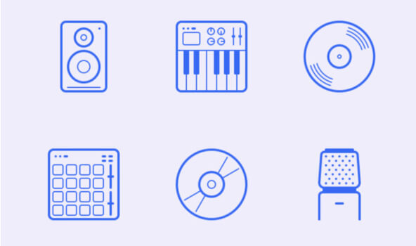 In The Studio: 24 Free Icons