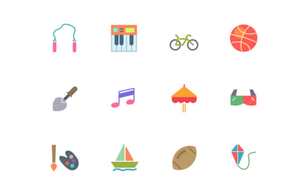 Swifticons – 52 Flat Activities Icons