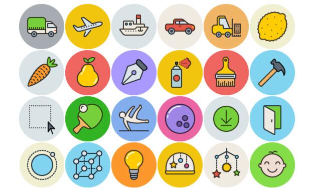 Unigrid Flat: 100 Free Icons