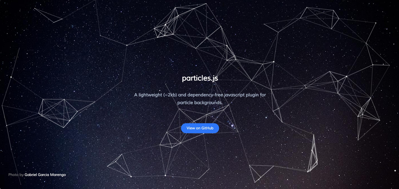 jQuery Particles幾何学模様をアニメーションで実装