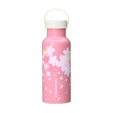 SAKURA2018ハンドルキャップステンレスボトルピンク